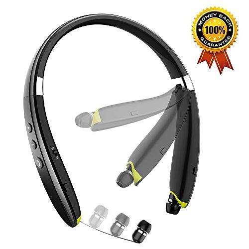 Black – LEOPHILE EEL Wireless Neckband Headphones Sports IP67
