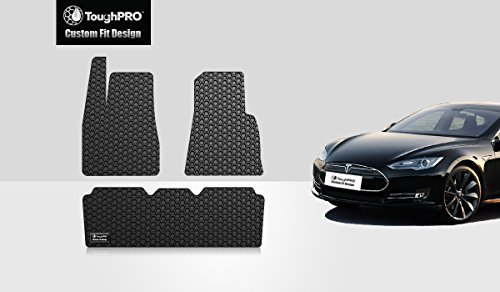 2016 2017 toughpro tesla model s floor mats set black rubber heavy duty all weather. Black Bedroom Furniture Sets. Home Design Ideas