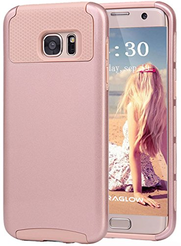 Compatible with galaxy s7 edge device premium protection featuring two layers of protection: a inner TPU frame that protects against drops, and a solid body ...