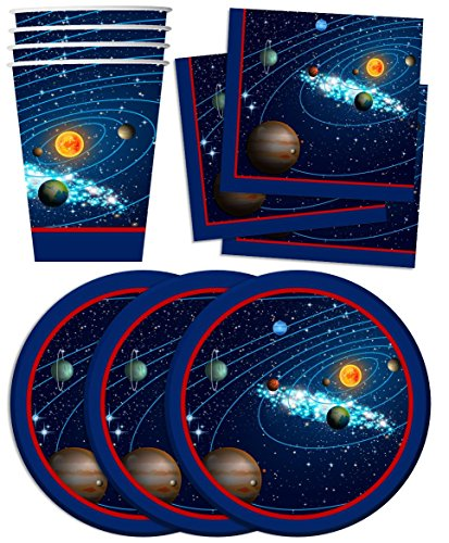 outer space solar system photo booth props kit 20 pack party
