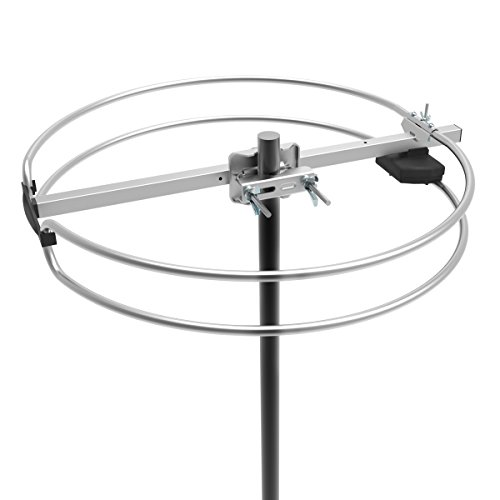 1byone outdoor radio antenna  high gain omnidirectional fm reception antenna with round dipole