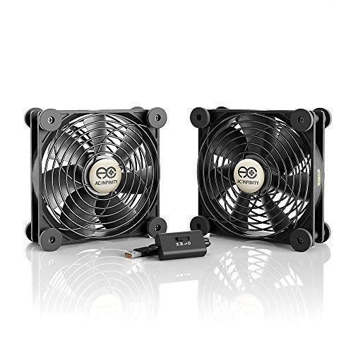 AC Infinity AIRCOM S9, Quiet Cooling Fan System 17″ for Receivers