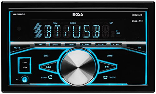 Boss Audio 820brgb Double Din  Bluetooth  Mp3  Usb  Sd Am  Fm Car Stereo  Wireless Remote  Multi