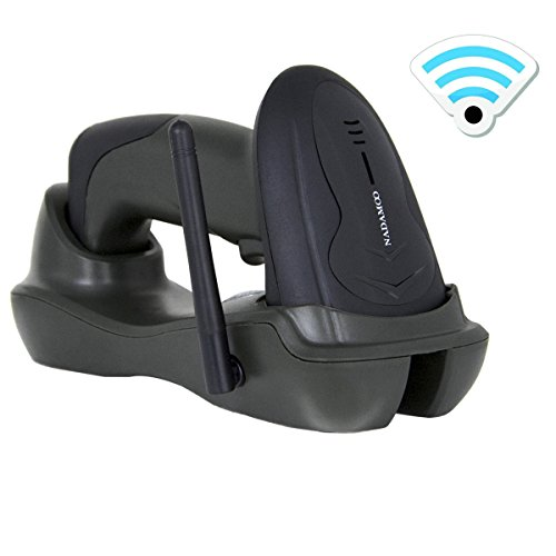 NADAMOO Wireless Barcode Scanner with USB Cradle Receiver Charging