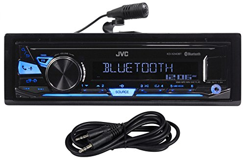 JVC KD-X240BT Car Digital Media Bluetooth Receiver, USB