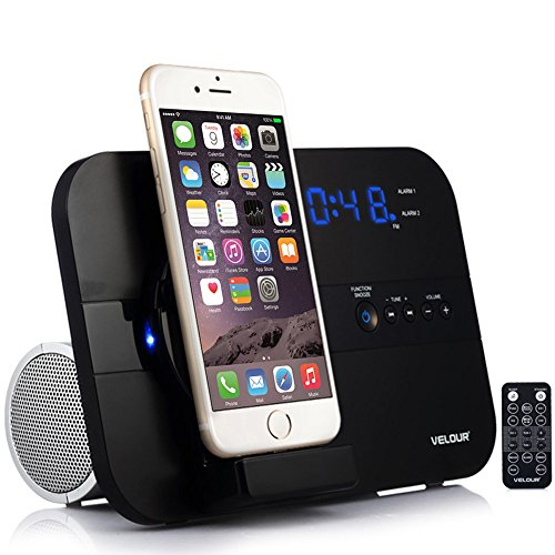 velour apple lightning speaker dock for iphone 7 7plus 6s. Black Bedroom Furniture Sets. Home Design Ideas