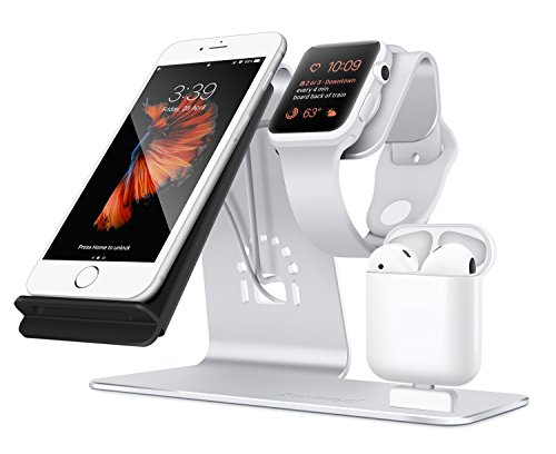 Bestand 3 In 1 Aluminum Apple Iwatch Stand Airpods