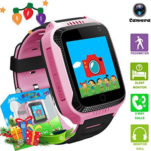 Kids Smart Watch Phone with GPS Tracker Locator Camera Math