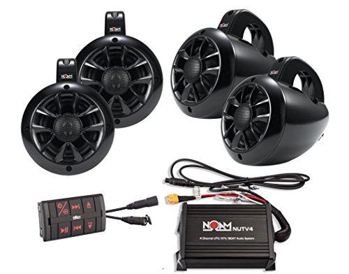 4 Channels Marine Bluetooth Atv Golf Cart Utv Speakers