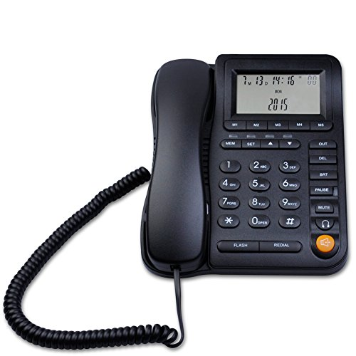 LeeKerTel LK-P017 Home Office Corded Phone With Headset