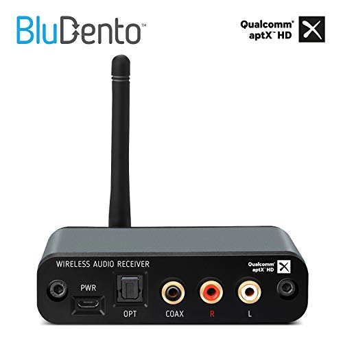 Upgraded Version BluDento APTX HD Bluetooth 5 0 Music Receiver 100
