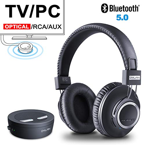 Wireless TV Headphones Bluetooth Transmitter & Receiver Set