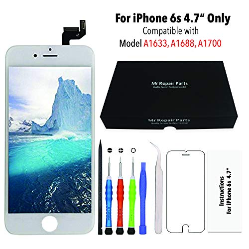 Screen Replacement for iPhone 6s Plus White 3D Touch Screen LCD